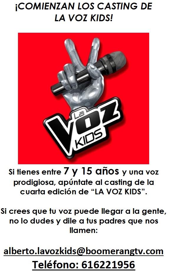 CARTEL CASTING LA VOZ KIDS
